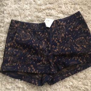 NWT Navy lace shorts